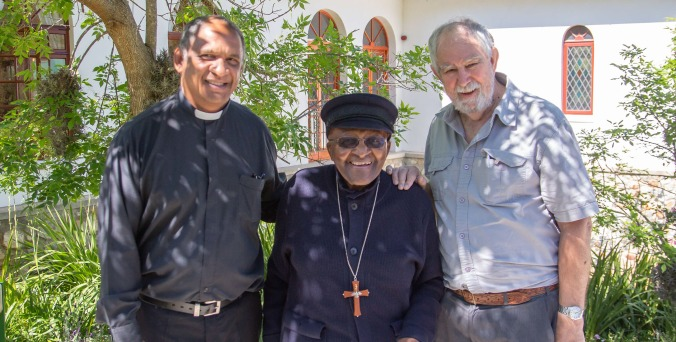 Rev. Edwin Arrison, ArchBishop Desmond Tutu; Prof. John de Gruchy